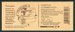 """Carnet De 2012 De 12 Timbres """"type Marianne De Beaujard - Europe"""" Avec Couvert. """"Postexport"""" Et N° De Liasse - Carnets"""