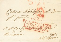1840. LOS YEBENES (TOLEDO) A MADRID. Marca OZ. / CASTILLA / LANVEVA, En Rojo De Orgaz (P.E.2) Edición 2004. MAGNIFICA Y  - Espagne