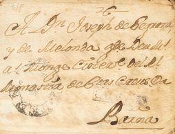 (1772ca). Dirigida A BARCELONA. Marca CATALUÑA (no Hemos Podido Determinar El Origen) Y De Los Recaderos Catalanes FERNA - Sin Clasificación