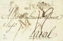 """1816. MADRID A LAVAL (FRANCIA). Marca M """"coronada"""", En Negro (P.E.16) Edición 2004. MAGNIFICA Y RARISIMA. - Espagne"""