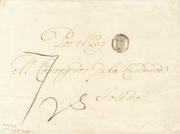 """(1794ca). MADRID A TOLEDO. Marca Del CORREO REAL (P.E.48) Edición 2004 Y Porteo Manuscrito  """"7 Rs"""" (reales). MAGNIFICA Y - Espagne"""