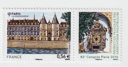 """TIMBRE -  2010  - 83 éme Congrès Philatélique à Paris  -  N° 4494  -       """"La Conciergerie""""    Neuf Sans Charnière - Frankreich"""