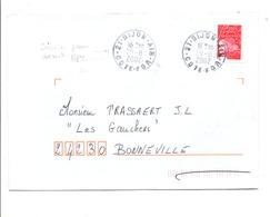 DERNIER JOUR OBLITERATION DIJON-AIR 2002 - Francia