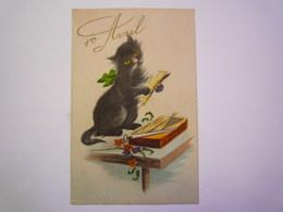 2020 - 4584  Carte Fantaisie  CHAT  (1er AVRIL)   XXX - Cats