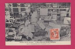 """75 - PARIS - Ateleirs De La Société """" L'ECLAIRAGE ELECTRIQUE"""" Après L'inondation Du 28 Janvier 1910 - Inondations De 1910"""