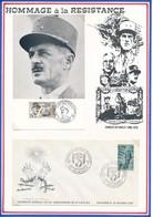 FRANCE - CARTE GNL LECLERC 28.11.87  STRASBOURG + ENVELOPPE  ASSEMBLEE GNLE ANNIVERSAIRE FNDIRP ARCACHON 8.10.65 - Guerre Mondiale (Seconde)