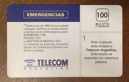 CARTE RECTO BLANC VERSO TELECOM ARGENTINA SANS PUCE PHONECARD TELECARTE CARD - Argentina