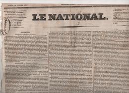LE NATIONAL 22 01 1831 - POLOGNE - HANOVRE -BELGIQUE DUC DE LEUCHTEMBERG ROI - MANIFESTE DU PEUPLE POLONAIS - BÂLE - Zeitungen