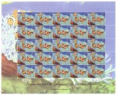 Polynésie Française Année 2013 Timbre 1031 Feuille Feuillet Faune Marine Journée Mondiale De L'océan Poisson Clown - Polynésie Française