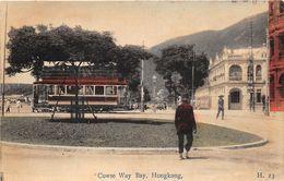 Hongkong Cawse Way Bay Met Tram Tramway Ca. 1915 - Chine (Hong Kong)