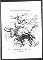 CPM Jean Jaurès Satitique Caricature Non Circulé Voir Scan Du Dos Clemenceau - Satiriques