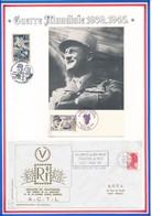 FRANCE - CARTE PO 5E REG CUIRASSIERS B.P.M 05.88+ENVELOPPE MONT DE MARSAN 30.11.88+AUSCHWITZ DE MES NUITS THEATRE DE FEU - Guerre Mondiale (Seconde)