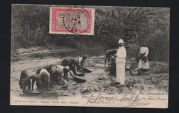 Madagascar 69 - 03 MAI 1911 FILANZANE N°106 CP ANIMEE CHERCHEURS D'OR + BM 15 ! TTB!!RR - Lettres & Documents