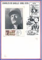 FRANCE - CARTE OBLITERATION GNL LECLERC MARECHAL DE FRANCE LIBERATION DE STRASBOURG 22.11.69 - Guerre Mondiale (Seconde)