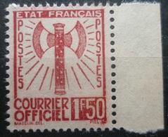 RARE TIMBRE De SERVICE N°8 1F50 Brun-Rouge NEUF Sans GOMME + BDF Cote + 45 Euro - Officials