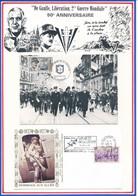 FRANCE - CARTE 50E ANNIV LIBERATION 23.11.94 STRASBOURG + ENVELOPPE ROUEN QUARTIER GARE 28.5.94 -LES AILES DE LA LIBERTE - Guerre Mondiale (Seconde)