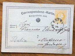 BRUNN (MAHREN) - BRNO- 2/2/74 Annullo Su CORRESPONDENZ - KARTE 2 Kr  (AUSTRIA ) Per MADERNO - INTERO CON STAMPA PRIVATA - 1945-.... 2nd Republic