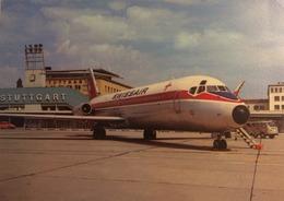 SWISSAIR DC9 Postcard - Nr 73 KW Stuttgart Airport - 1946-....: Era Moderna