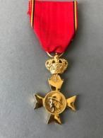 Médaille Les Vétérans Du Roi Albert (Provenant Du Cadre Vitrine Fabriqué Par Le Propriétaire Qui était Sculpteur JT... - Médailles & Décorations