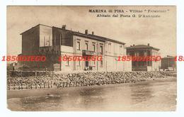 """MARINA DI PISA - VILLINO """" PERATONER """" F/PICCOLO VIAGGIATA 1918? ANIMATA - Pisa"""