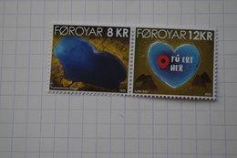 5-518 Le Lac En Coeur + Notice En Français Saint Valentin Feroé  Hart  Herz  Heart  Corazon  Coração Cuore - Geography