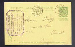 CP 41 De Sc Heysel 14 Juillet 1910 = > Bruxelles Cachet D'entreprise Quincaillerie  DRAPS Laeken - Entiers Postaux