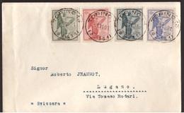 Regno, Serie Vittoria Del 1921 Su Busta Filatelica    -CM85 - 1900-44 Victor Emmanuel III