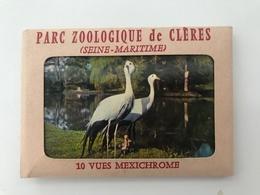 Pochette De 10 Petites Photos Anciennes  Clères PARC ZOOLOGIQUE - Clères