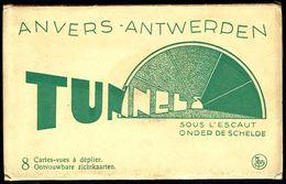 ANTWERPEN - ANVERS - Tunnel Onder De Schelde: Zichtkarten 8 Cartes-vues - Non Circulé - Not Circulated - Nicht Gel, - Antwerpen