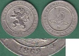 LOT 002  *BELGIQUE*LEOPOLD  Ier *PIECE DE 5 CENTIMES *ANNEE 1862* - 1831-1865: Leopold I