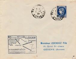 J71 - Marcophilie - 1er Transport Aérien De Courrier Sans Surtaxe - 1939 - Air Post