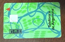 CARTE RECTO ET VERSO TELECOM ARGENTINA MÊME VISUEL SANS PUCE PHONECARD TELECARTE CARD - Argentina