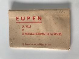Dépliant De 10 Cartes-vue Détachables EUPEN LA VILLE ET LE NOUVEAU BARRAGE DE LA VESDRE - Eupen