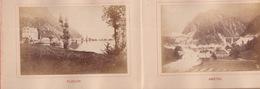 1890'S BOOKLET - 15 PHOTOS - ST. GOTHARD - GOTTARDO - AIROLO - FAIDO - BELLINZONA - LUGANO - TI Tessin