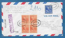 1953 NEW YORK TO TRIESTE REGISTERED MAIL - Vereinigte Staaten