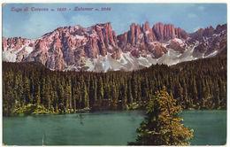 LAGO DI CAREZZA - LATEMAR - BOLZANO - F.P. VIAGG. 1929 - Bolzano (Bozen)