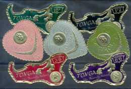D - [200305]TB//*/Mh-TONGA 1964, Joli Lot De Timbres Adhésifs, C?ur Et île, Avec Pièce De Monnaie - Münzen