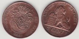 LOT 011    2 CENTIMES CUIVRE_1862 - 1831-1865: Leopold I