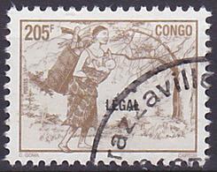 Timbre Oblitéré N° 1076AR(Yvert) Congo 1998 - Femme à La Hotte, Surcharge LEGAL - Congo - Brazzaville