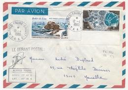 TAAF - Env. Aff  0,90 Roche Du Lion + 0,50 Telemesure - Obl Alfred Faure Crozet 12/4/1980 - Covers & Documents
