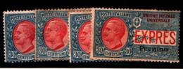 93518) ITALIA- 30 C. Espressi Soprastampati Pechino - ESPRESSI - Novembre 1917  UN PEZZO--MLH* - Pekin