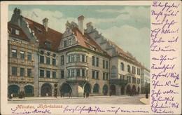 Ansichtskarte München Strassen Partie Gasthof Bierhaus Hofbräuhaus 1903 - Muenchen