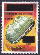 Timbre Oblitéré N° 1531(Michel) Congo 2000 - Minéraux, Malachite, Surchargé - Democratic Republic Of Congo (1997 - ...)