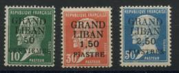 Grand Liban (1924) N 15 A 17 (charniere) - Oblitérés