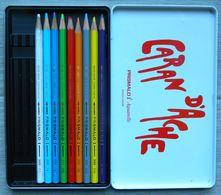 Boîte Avec 9 Crayons De Couleurs - CARAN D'ACHE Nr 999 - PRISMALO - Aquarelle - Fabrication Suisse - Autres