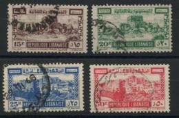 Grand Liban (1945) N 193 A 196 (o) - Used Stamps