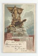 Cpa Lithographie  Monumental Brunnen Stettin  Ed Miesler Berlin  S Illustrateur Hirsch  Cachet 1900 - Other Illustrators