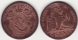 Lot 012  BELGIQUE LEOPOLD Ier PIECE DE 5 CENTIMES GRAND MODULE ANNEE 1841 - 1831-1865: Leopold I