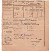 ACQUIT A CAUTION LAISSEZ PASSER POUR ALAMBIC / 26 OCTOBRE 1937 / SAINT EGREVE ISÈRE - 1900 – 1949