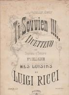 Spartito TI SOVVIEN - DUETTINO Per Soprano E Tenore Di Luigi Ricci - RICORDI - Opéra